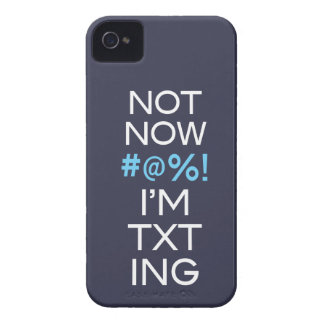 Not Now I'm Texting iPhone 4 Cover