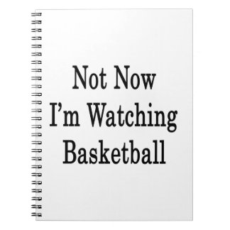 Not Now I'm Watching Basketball Notebooks