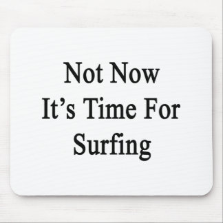 Not Now It's Time For Surfing Mouse Pad