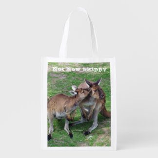 Not Now Skippy Reusable Grocery Bag