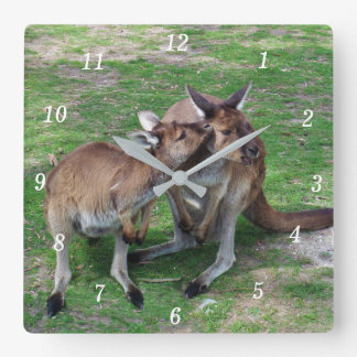 Not Now Skippy Square Wall Clock