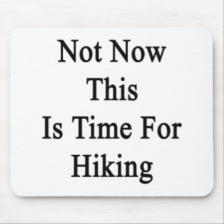 Not Now This Is Time For Hiking Mouse Pad