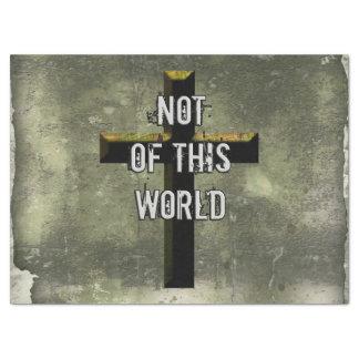 Not of This World Christian Jesus Cross Tissue Paper