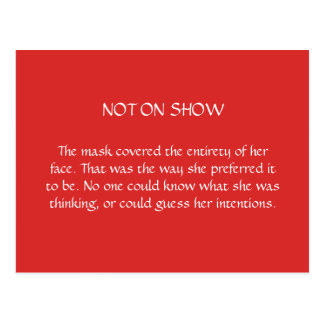Not on Show Postcard