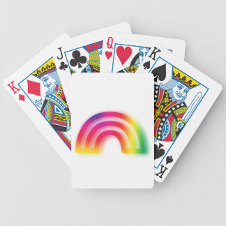 Not one or two, but three rainbows! bicycle playing cards