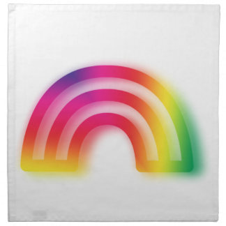 Not one or two, but three rainbows! napkin