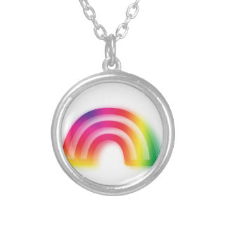 Not one or two, but three rainbows! silver plated necklace