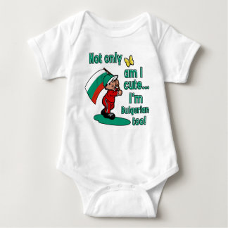 Not only am I cute I'm Bulgarian too! Baby Bodysuit