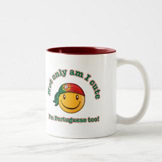 Not only am I cute, I'm Portuguese too Two-Tone Coffee Mug