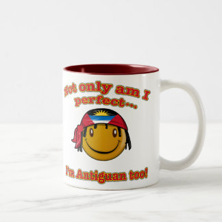 Not only am I perfect I'm Antiguan too! Two-Tone Coffee Mug