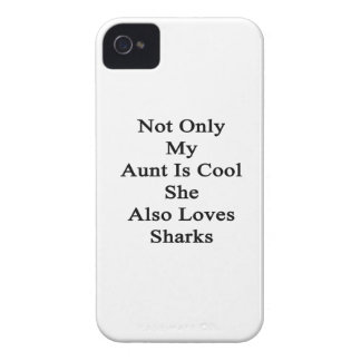Not Only My Aunt Is Cool She Also Loves Sharks iPhone 4 Case-Mate Cases