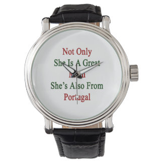 Not Only She Is A Great Mom She's Also From Portug Wristwatches