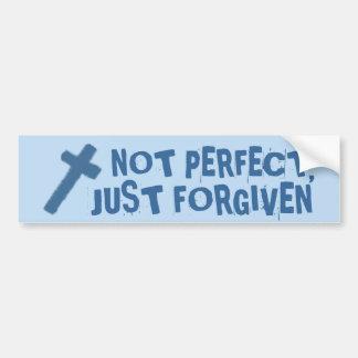not perfect, just forgiven cross bumper sticker
