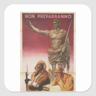 Not prevail Propaganda Poster Square Sticker