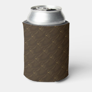 Not Really Quilted Dark Brown Beer Can Sleeve Can Cooler