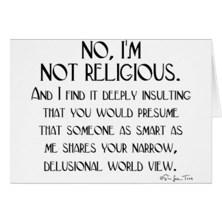 Not Religious Card