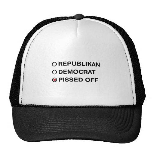 NOT REPUBLIKAN NOT DEMOCRAT MESH HAT