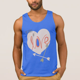 Not Scared of Love Heart Arrows Funky Tank Top