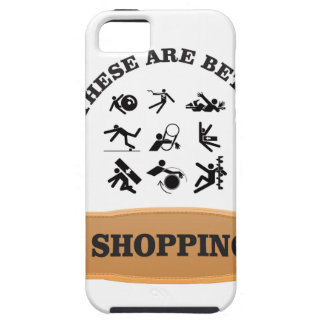 not shopping is bad iPhone 5 cover