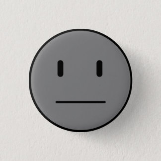 not smiley face v1.0 - Customized 1 Inch Round Button