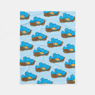 Not So Early Bird Fleece Blanket