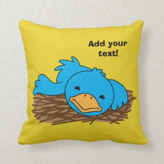 Not So Early Bird Throw Pillow