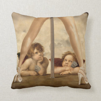Not so Little Angels Throw Pillow