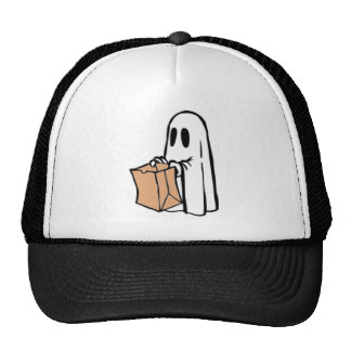 Not So Spooky Halloween Ghost Trick or Treater Mesh Hats