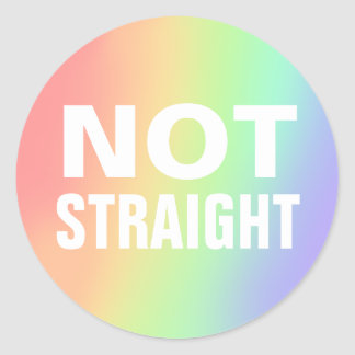 not straight classic round sticker