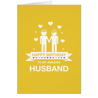 Not Straight Design Happy Birthday Husband Card
