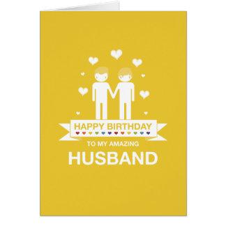 Not Straight Design Happy Birthday Husband Card