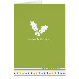 Not Straight Design 'Happy Holly-Days' Card