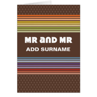 Not Straight Design - Mr and Mr Card