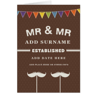 Not Straight Design - Mr and Mr - Wedding Day Card