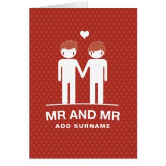 Not Straight Design Mr & Mr Card