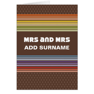 Not Straight Design - Mrs and Mrs Card