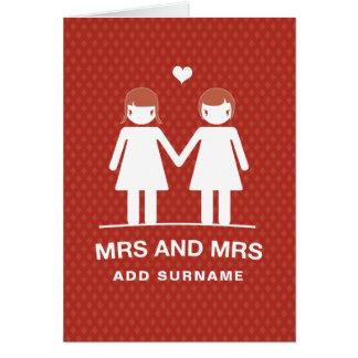 Not Straight Design Mrs & Mrs Card