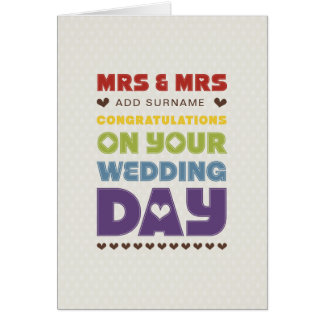Not Straight Design - Mrs & Mrs - Wedding Day Card
