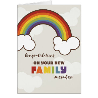 Not Straight Design - New family member Card