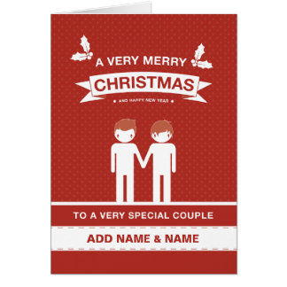 Not Straight Design Special Couple Card