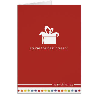 Not Straight Design 'You're the best Present' Card