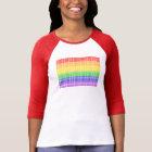 """Not Straight"" Gay Flag T-Shirt"