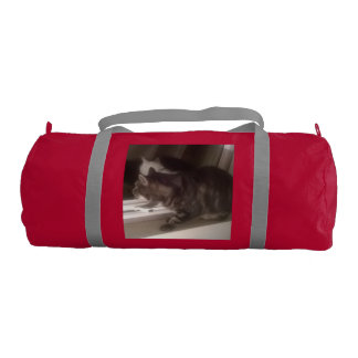 Not Talking to you Dave Duffle Gym Bag, Red Gym Bag