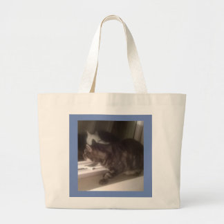 Not Talking to you Dave Large Tote Bag
