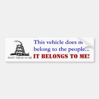 Not The people's car Bumper Sticker