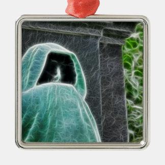 Not Today Satan Silver-Colored Square Ornament