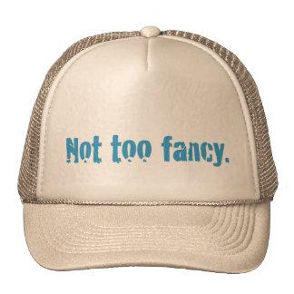 Not too fancy. trucker hat