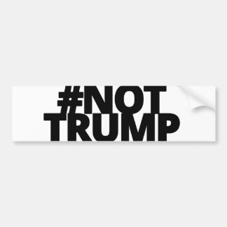Not Trump - Blk Logo Bumper Sticker