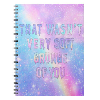 Not very soft grunge spiral notebooks