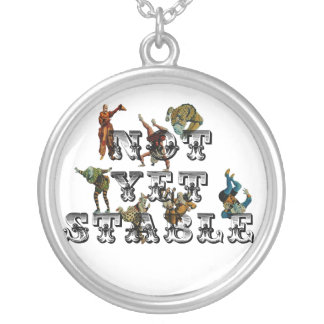 Not Yet Stable Round Pendant Necklace